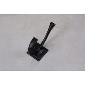 Мебельный крючок GTV MADRYT двойной черный матовый