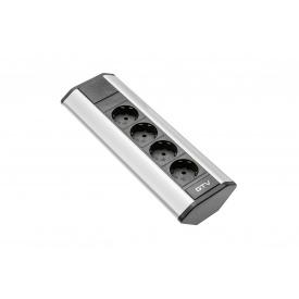 Настольный удлинитель GTV угловой на 4 вилки серебристый