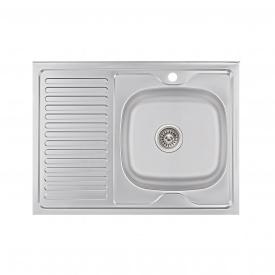 Кухонная мойка Lidz 6080-R 0,6 мм Satin (LIDZ6080R06SAT)