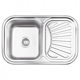 Кухонная мойка Lidz 7549 0,8 мм Micro Decor (LIDZ7549MICDEC)
