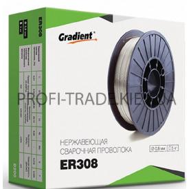 ER 308 Дріт зварювальний Gradient нержавейка 0,8 мм 1 кг