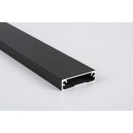 Алюминиевый рамочный профиль для мебельных фасадов М 7 5,95 м черный BRUSH
