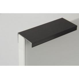 Меблева ручка профільна алюмінієва В9 5,95 м чорний Brush