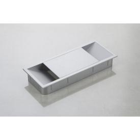 Заглушка під дроти Poliplast прямокутна 150x62 алюміній
