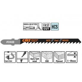 Пильне полотно СМТ для лобзика 75 100 відступ 3 (комплект 5 шт)