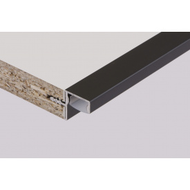 Профиль для фасадов без ручек в верхний модуль под LED-подсветку ФБР 5950 мм черный
