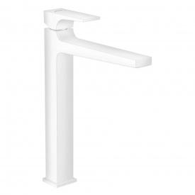 Metropol Змішувач для раковини 260 одноважільний зі зливним клапаном Push Open для раковини у формі тазу матовий білий HANSGROHE 32512700