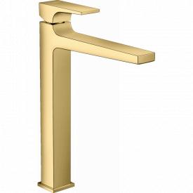 Смеситель для умывальника METROPOL со сливным клапаном PUSH OPEN цвет золото HANSGROHE 32512990