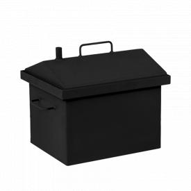 Коптильня горячего копчения Дид Коптенко малая с крышкой домиком и покраской (380x320x360)