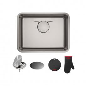Кухонна мийка KRAUS ручної роботи вбудована знизу 629x480 мм, нержавіюча сталь KD1US25B