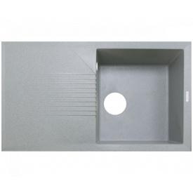Кухонна мийка Adamant NOVAK 860х500х240, з сифоном, 09 св-сірий