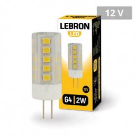 LED лампа Lebron L-G4 3W 12V G4 4500K 260Lm кут 360°