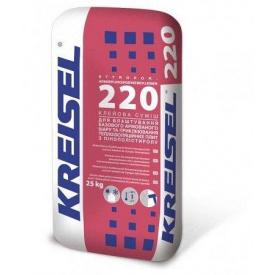 Суміш для приклеювання та армування пінополістирольних плит Kreisel 220, 25 кг