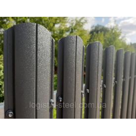 Штакетник двухсторонний 0,5 мм мат графитовый (RAL 7024) (Корея)