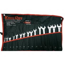 Набір ключів рожково-накидних 15 шт KING ROY KRTRP-15 сумка