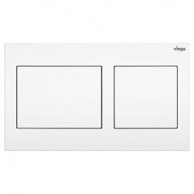 Кнопка спуска для инсталляции VIEGA Visign for Style 21 горизонтальная двойная 220x130мм белый 773250