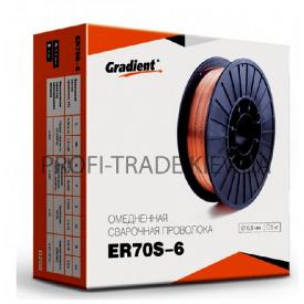 ER 70 S-6 Дріт зварювальний Gradient 1,0 мм 5 кг