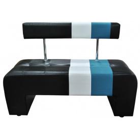 Кухонная лавка Ribeka Альфа 1 Черно-белый с синим (53A04)