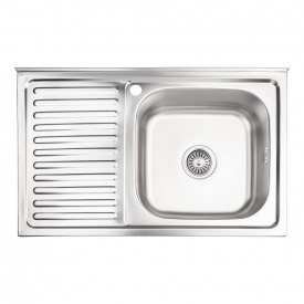 Кухонная мойка Lidz 5080-R 0,8 мм Decor (LIDZ5080RDEC06)