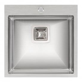 Кухонная мойка Qtap DK5050 2.7/1.0 мм Satin (QTDK50502710)