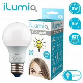 Светодиодная лампа ilumia 009 L-8-A60-E27-NW 800Лм 8Вт 4000К