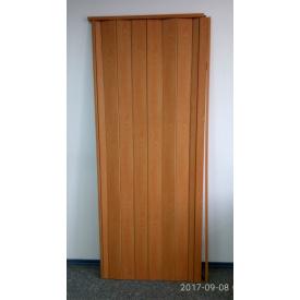 Дверь гармошка глухая 1000х2030х6мм. Вишня №501