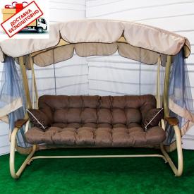 Качель садовая Валенсия Air раскладная с москитной сеткой 400 кг