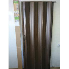 Ширма гармошка межкомнатная №14 Каштан 820х2030х0,6 мм дверь раздвижная пластиковая глухая