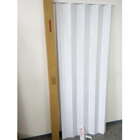 Ширма гармошка межкомнатная №1 Белый ясень 820х2030х0,6 мм дверь раздвижная пластиковая глухая
