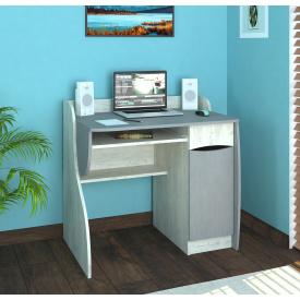 Стіл комп'ютерний Ронні крафт білий/металік 900х580х850 мм
