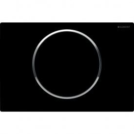 Sigma10 Смывная клавиша пластик черный хром глянц черный GEBERIT 115.758.KM.5