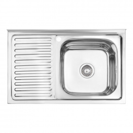 Кухонная мойка Lidz 5080-R 0,8 мм Polish (LIDZ5080RPOL06)