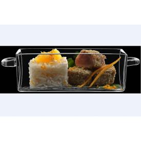 Блюдо с ручками прямоугольное Luigi Bormioli Buffet 140 мм