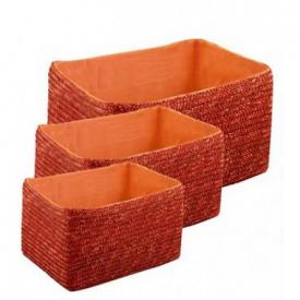 Набір кошиків Natural House прямокутних помаранчевих