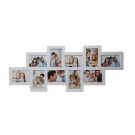 Мультирамка для фото Angel Gifts 10 в 1 біла (BIN-112122 (w))