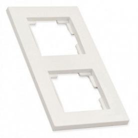 Рамка вертикальна двомісна RITA Mutlusan білий