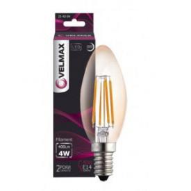 LED лампа VELMAX V-Filament-C37 4W E14 4100K 400Lm