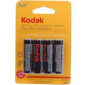Батарейки KODAK EXTRA HEAVY DUTY R6 упаковка по 4 шт в блістері