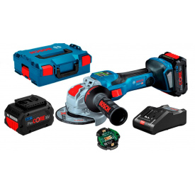 Акумуляторна безщіткова болгарка Bosch Professional GWX 18V-15 SC з регулюванням в L-Boxx 136 з 2 акб 18V 8.0A