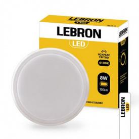 LED світильник LEBRON L-WLR-S 8W круглий 4100K 720Lm ІР54 СВЧ