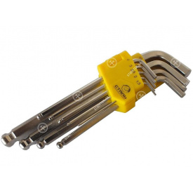 (48101) Набор Г-образных ключей НЕХ 9 ед 1,5-10 мм СТАЛЬ