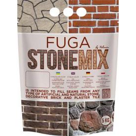 """Універсальний заповнювач швів """"FUGA STONEMIX"""" Цегляний, ТМ """"Polimin"""" по 5 кг"""