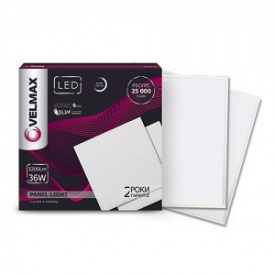 LED светильник VELMAX V-UPS 36W панель 595х595mm 6200K 3200Lm с блоком питания