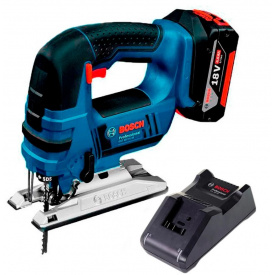 Лобзик аккумуляторный Bosch Professional GST 18 V-LI B с 1 акб GBA 18V 4,0 Ah з/п GAL 18V-40 в картонной коробке