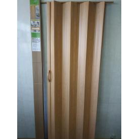 Ширма гармошка межкомнатная №10 Сосна Медовая 820х2030х0,6 мм дверь раздвижная пластиковая глухая