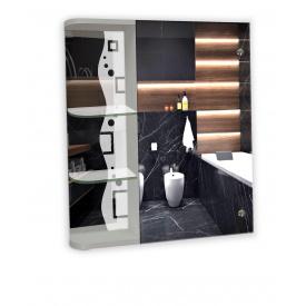 Шкаф-зеркало 60x70x14см ШК810