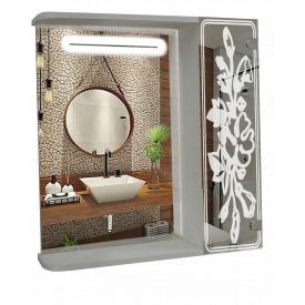 Шкаф-зеркало c LED подсветкой 60x70x14см ШК857