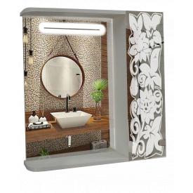Шкаф-зеркало с LED подсветкой 60x70x14см ШК853
