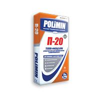 Клейова суміш для пінополістиролу та мінеральної вати POLIMIN П-20 ТЕПЛО-ФАСАД АРМ білий 25 кг