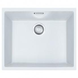 Кухонна мийка FRANKE Sirius Tectonite вбудована знизу, 1-камерна 525х440 мм h200, білий 125.0395.608